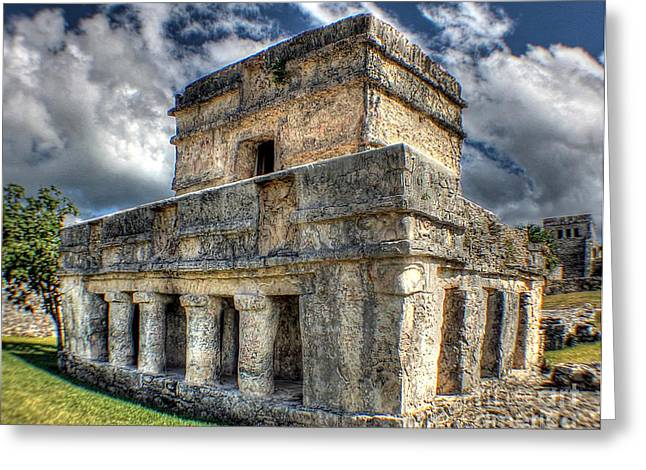 Temple Of The Frescos - Tulum Greeting Card by Ines Bolasini