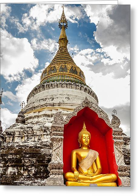 Temple Thailand Greeting Card by Aoshi Vn