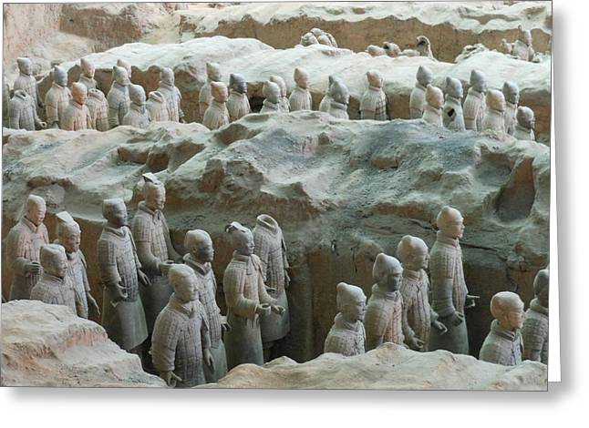 Terracotta Army Greeting Card by Kay Gilley