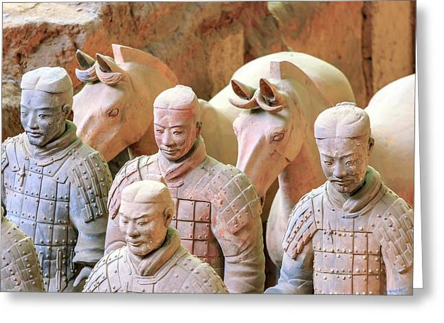 Terracotta Army Museum, Warriors Greeting Card