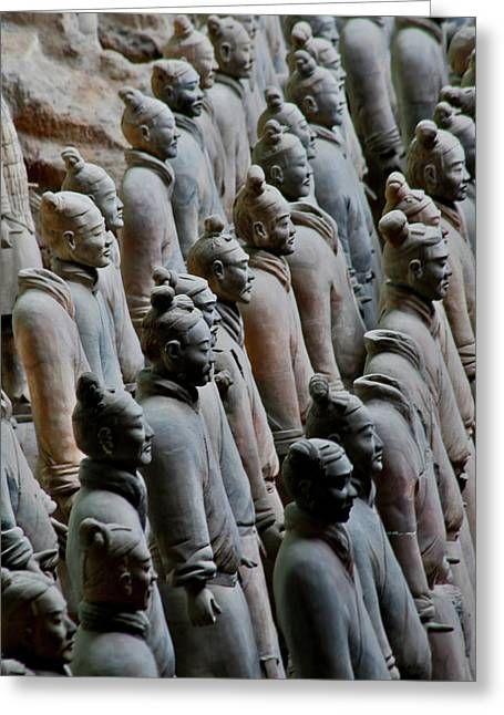 Terracotta Soldiers Unesco World Greeting Card by Darrell Gulin
