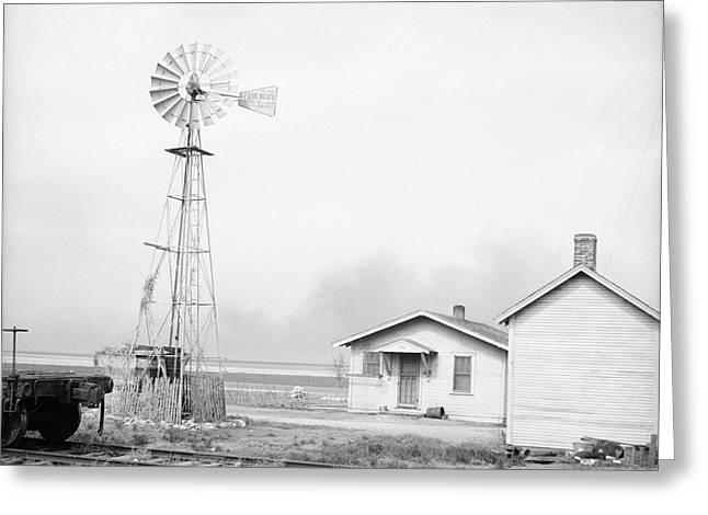 Texas Dust Storm, 1936 Greeting Card