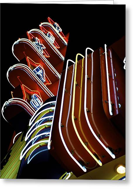 Greeting Card featuring the photograph Texas Theatre Marquee by John Babis