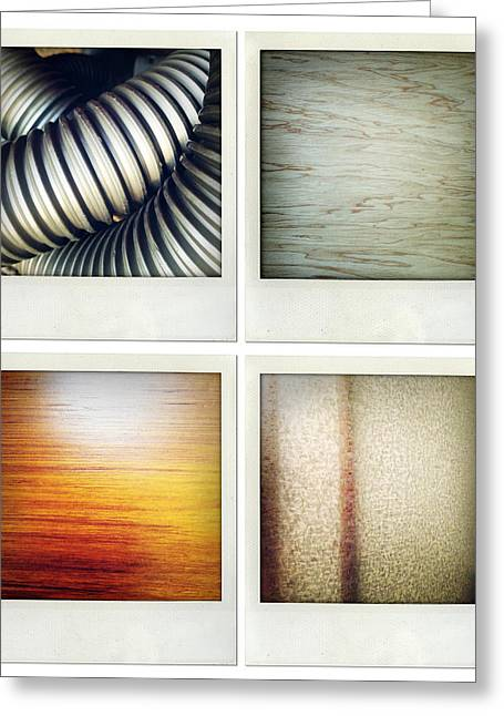 Textures Greeting Card by Les Cunliffe