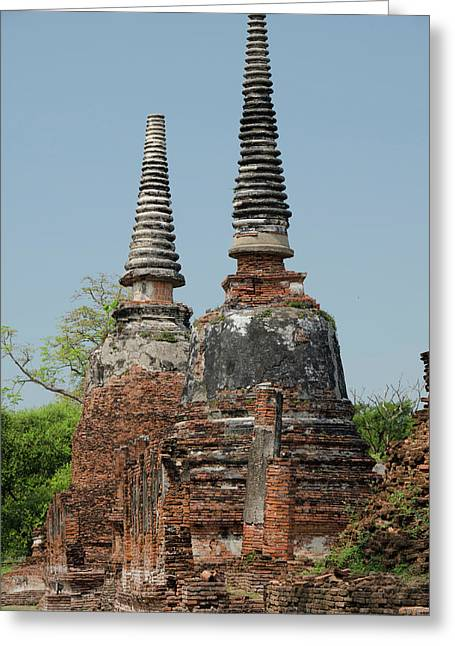 Thailand, Ayutthaya Greeting Card by Cindy Miller Hopkins