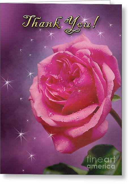 Thank You Rose Greeting Card by Jeanette K