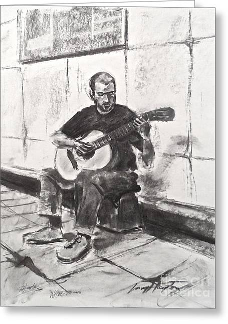 The Acoustic Man Greeting Card