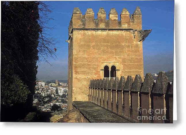 The Alhambra Tower Of The Picos Greeting Card