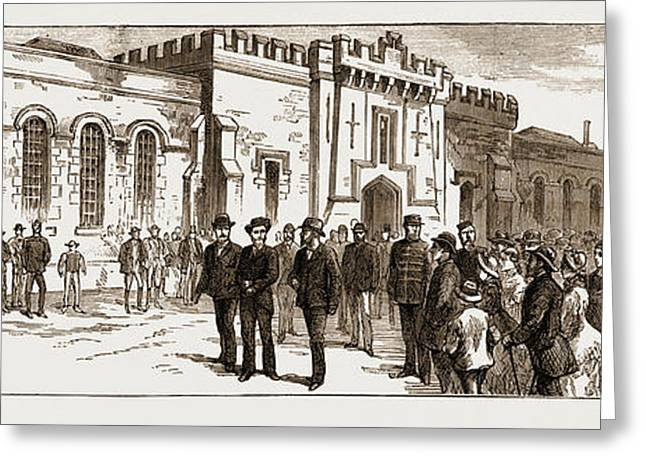 The Assassination Of Carey, Arrest Of Odonnell At Port Greeting Card by Litz Collection
