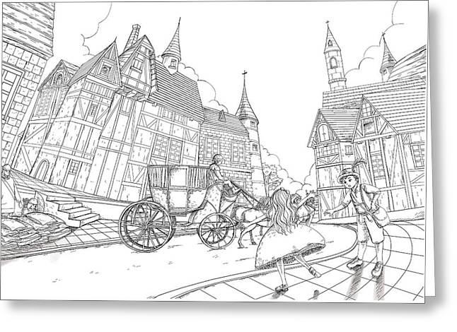 The Bavarian Village Greeting Card