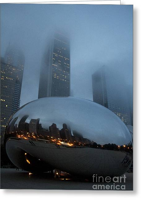 The Bean And Fog Greeting Card by Crystal Nederman