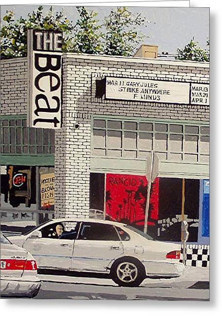 The Beat In Midtown Greeting Card by Paul Guyer