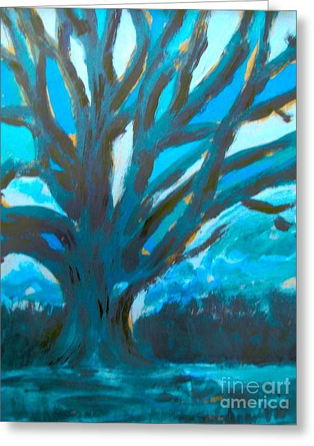 The Blue Tree Greeting Card