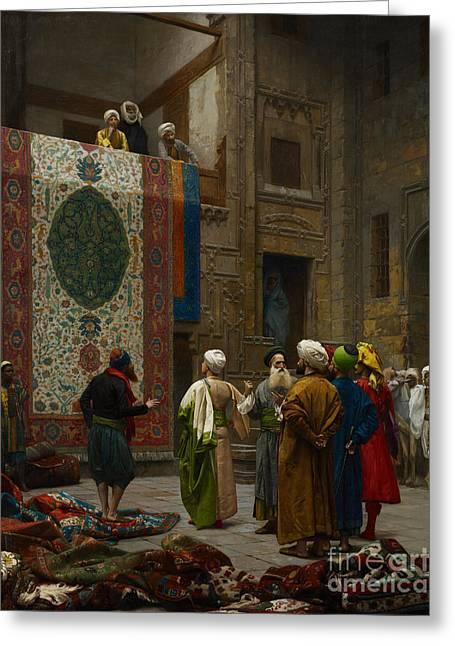 The Carpet Merchant Greeting Card