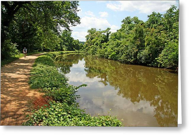 The Chesapeake And Ohio Canal Greeting Card by Cora Wandel
