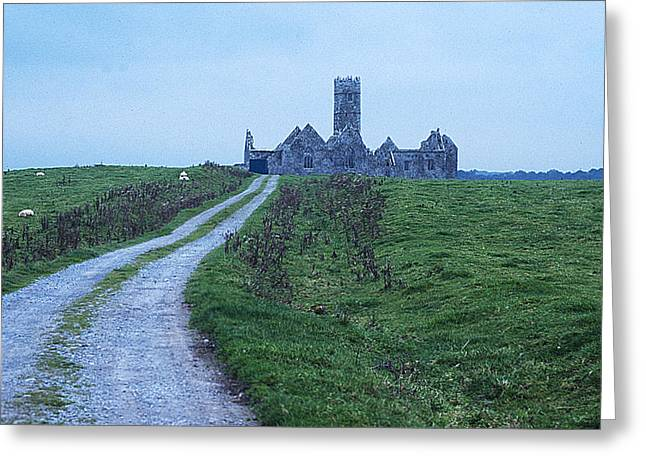 The Deserted Abbey Greeting Card by Carl Purcell