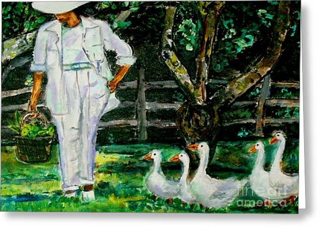 The Five Ducks Greeting Card