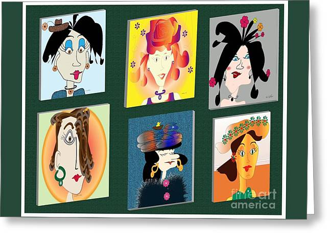 The Gang Greeting Card by Iris Gelbart