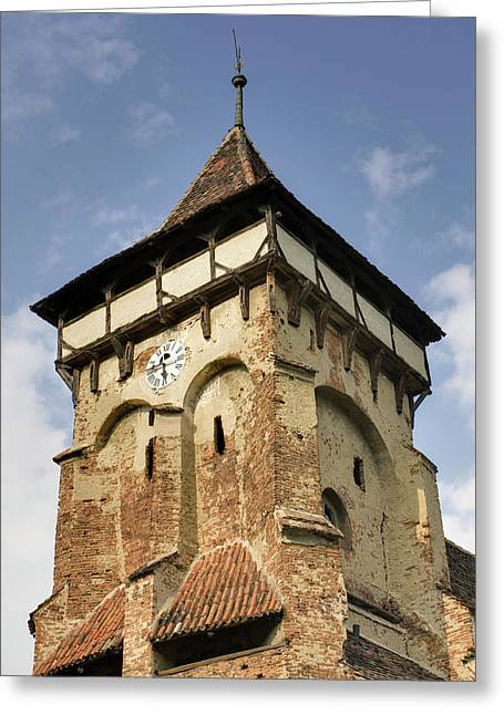 The German Fortified Church Of Valea Greeting Card by Martin Zwick