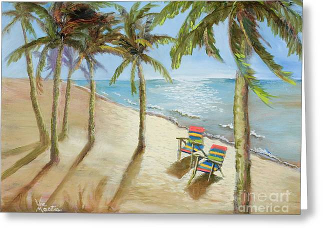 Greeting Card featuring the painting The Get-away by Vic  Mastis