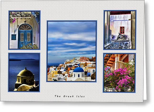The Greek Isles Greeting Card