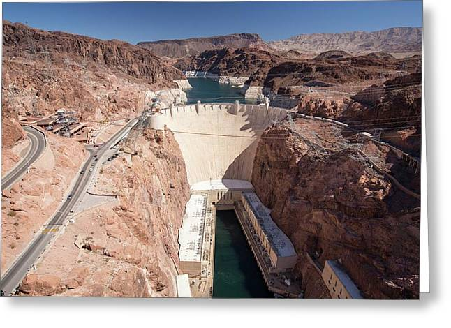The Hoover Dam And Lake Mead Greeting Card by Ashley Cooper