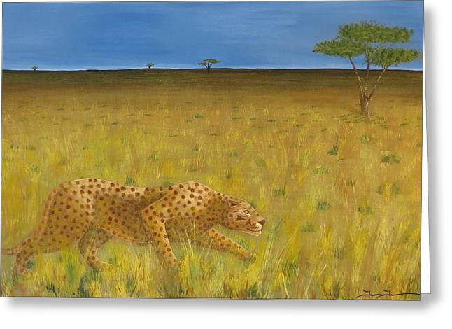 The Hunt Greeting Card by Tim Townsend