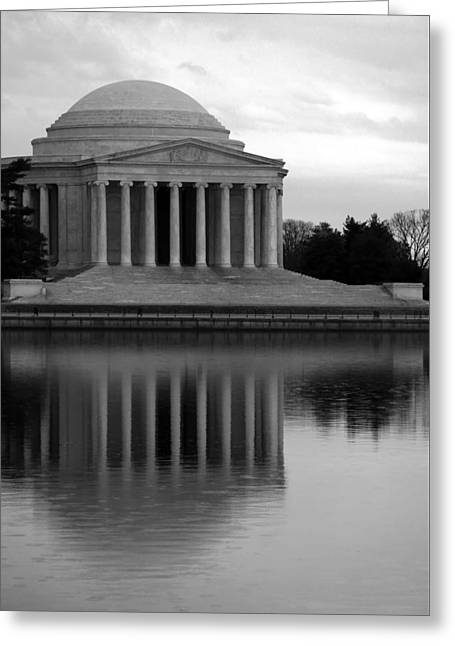 Greeting Card featuring the photograph The Jefferson Memorial by Cora Wandel