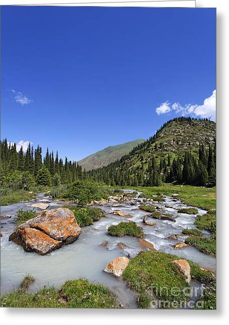 The Jeti Oghuz Valley In Kyrgyzstan Greeting Card