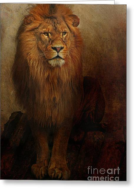 The King Greeting Card by Lyndsey Warren
