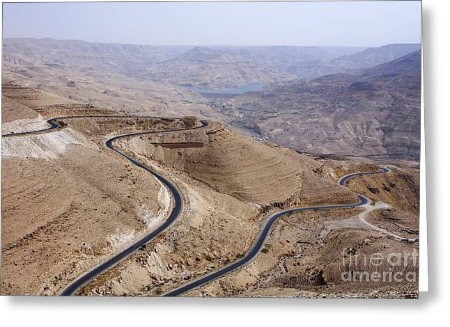 The Kings Highway At Wadi Mujib Jordan Greeting Card by Robert Preston