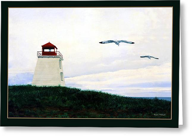 The Lighthouse Greeting Card by Ron Haist