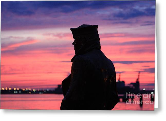 The Lone Sailor Greeting Card