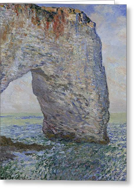 The Manneporte Near Etretat Greeting Card by Claude Monet