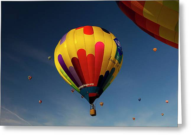 The Mass Ascension At The Albuquerque Greeting Card by Maresa Pryor