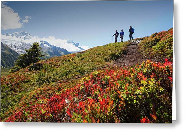 The Mont Blanc Mountain Range Greeting Card by Ashley Cooper