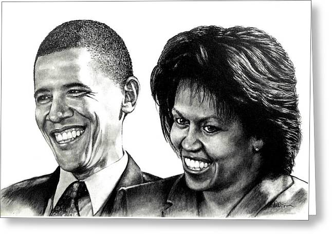 The Obama's Greeting Card by Todd Spaur