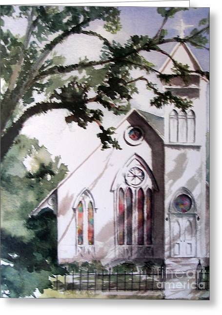 The Old Church Greeting Card by Mary Lynne Powers