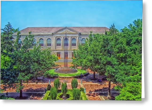 The Old Main - University Of Arkansas Greeting Card by Mountain Dreams