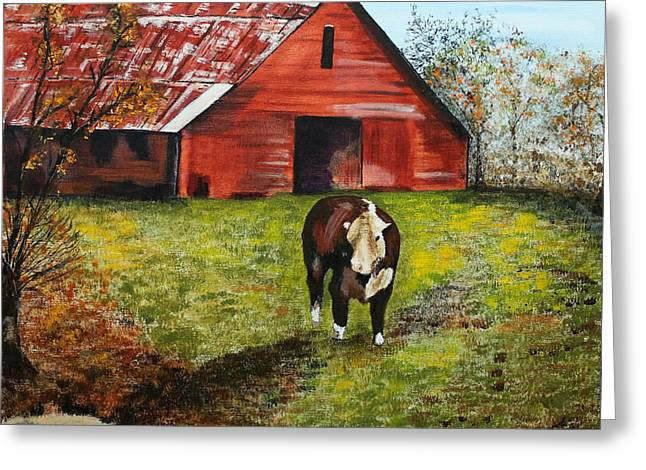 The Old Red Barn Greeting Card