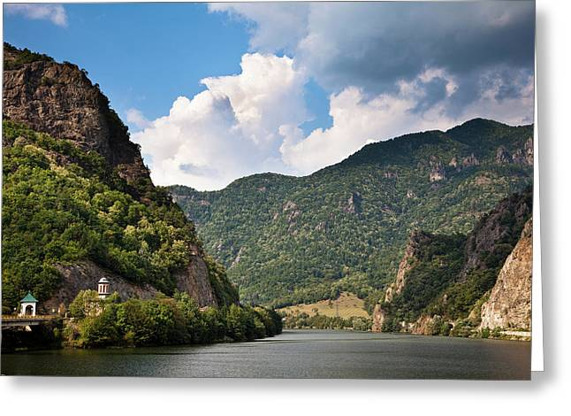 The Olt Gorge Through The Carpathian Greeting Card by Martin Zwick