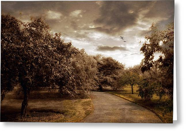 The Orchard Greeting Card by Jessica Jenney