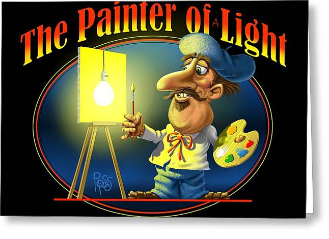 The Painter Of Light Greeting Card by Scott Ross