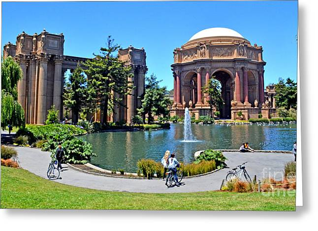 The Palace Of Fine Arts In The Marina District Of San Francisco Greeting Card by Jim Fitzpatrick