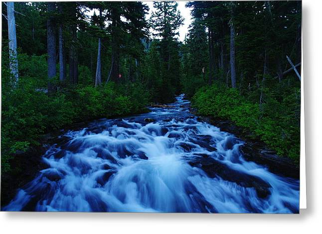 The Paradise River Greeting Card by Jeff Swan