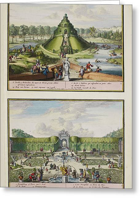 The Park At Enghien Greeting Card by British Library