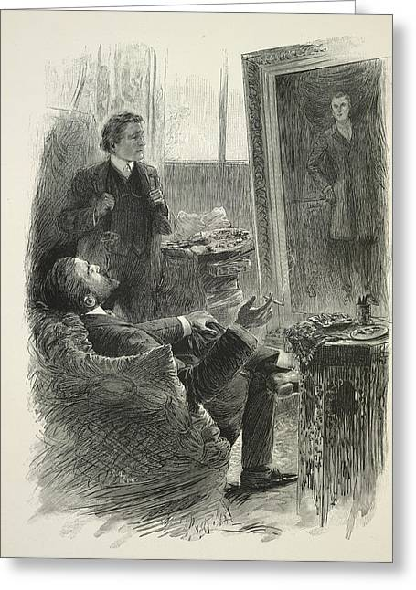 The Picture Of Dorian Gray Greeting Card by British Library