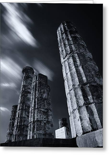 Greeting Card featuring the photograph The Pillars Of Apollo's Temple by Micah Goff
