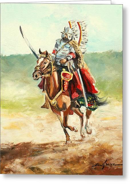 The Polish Winged Hussar Greeting Card