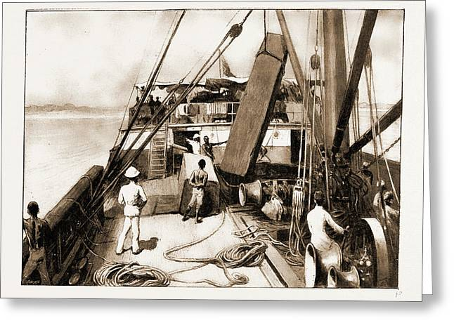 The Royal Niger Companys Expedition Everyday Scenes Greeting Card